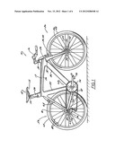 Adjustable Nose Width Bicycle Seat Assembly diagram and image