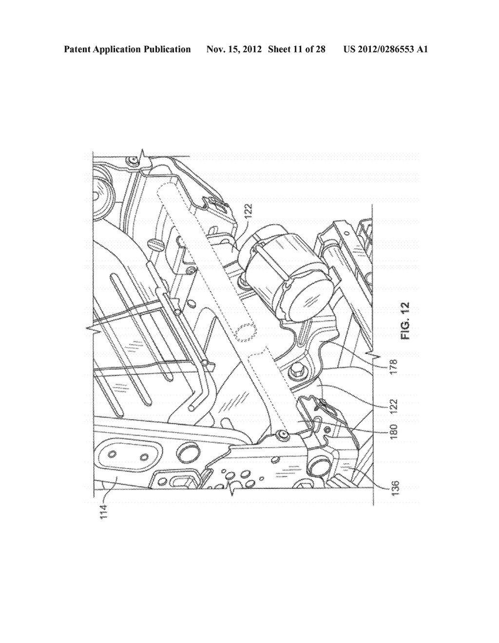 VEHICLE SEATING SYSTEM WITH PIVOTING STOP MECHANISM AND METHOD - diagram, schematic, and image 12
