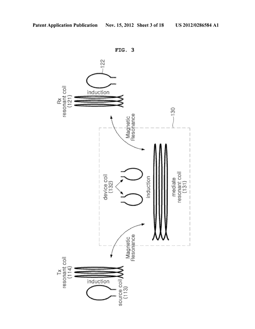 SPACE-ADAPTIVE WIRELESS POWER TRANSFER SYSTEM AND METHOD USING EVANESCENT     FIELD RESONANCE - diagram, schematic, and image 04