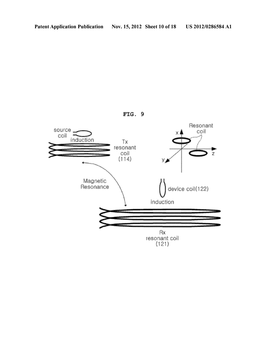 SPACE-ADAPTIVE WIRELESS POWER TRANSFER SYSTEM AND METHOD USING EVANESCENT     FIELD RESONANCE - diagram, schematic, and image 11