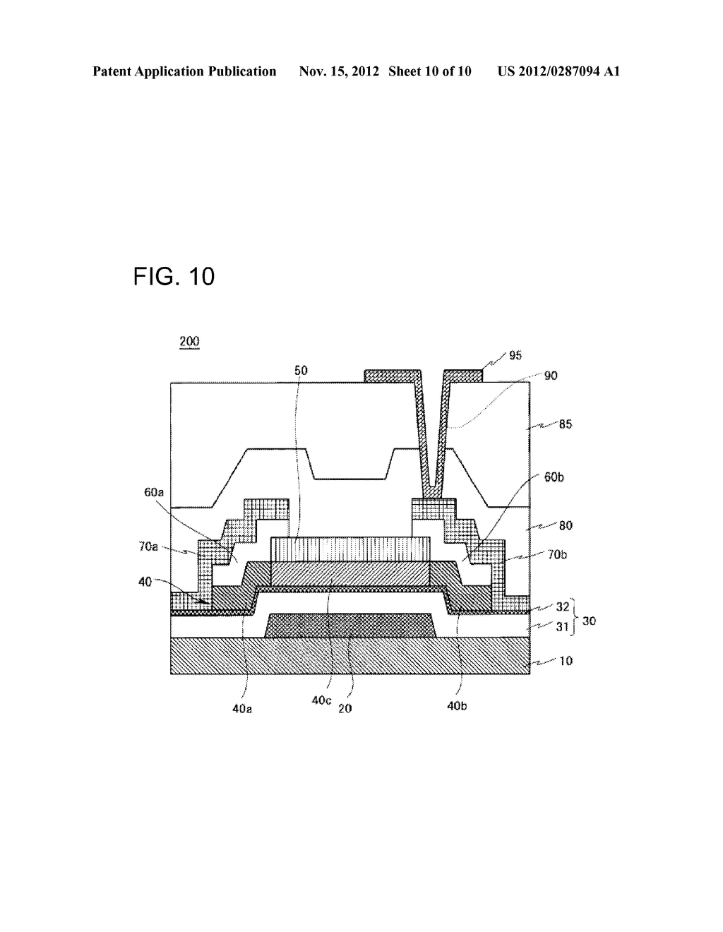 THIN FILM TRANSISTOR, METHOD FOR MANUFACTURING SAME, AND DISPLAY APPARATUS - diagram, schematic, and image 11