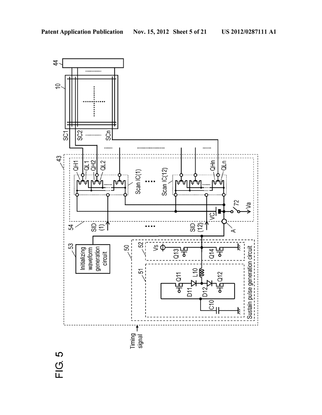 PLASMA DISPLAY DEVICE AND PLASMA DISPLAY PANEL DRIVING METHOD - diagram, schematic, and image 06