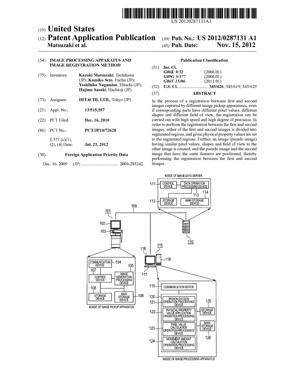 IMAGE PROCESSING APPARATUS AND IMAGE REGISTRATION METHOD - diagram, schematic, and image 01