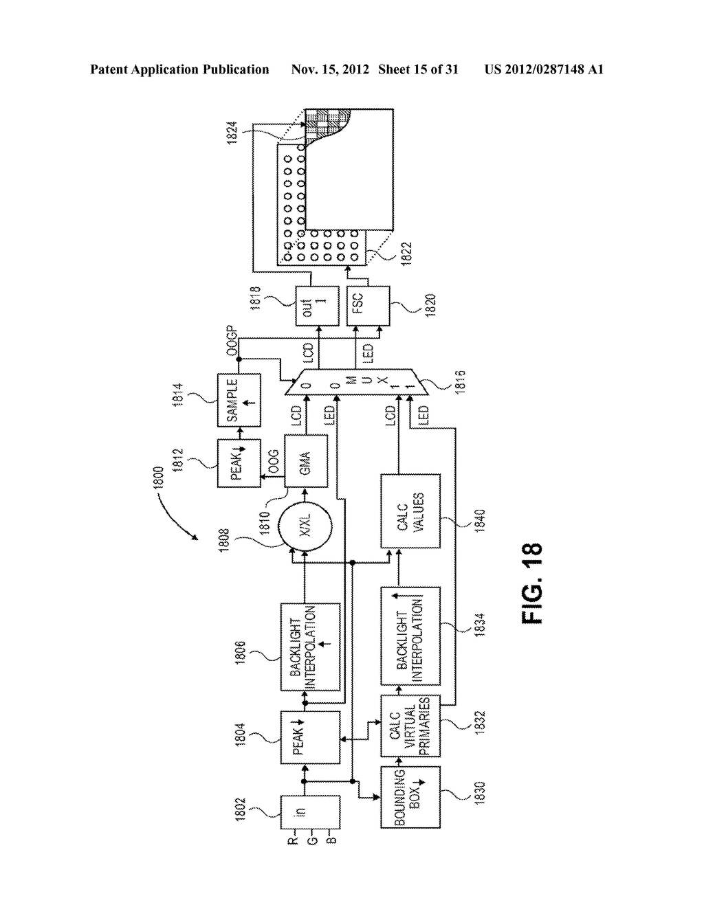 METHOD AND APPARATUS FOR IMPROVED SUBPIXEL RENDERING - diagram, schematic, and image 16