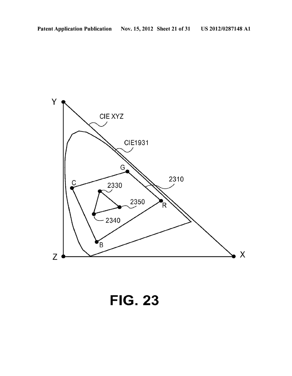 METHOD AND APPARATUS FOR IMPROVED SUBPIXEL RENDERING - diagram, schematic, and image 22