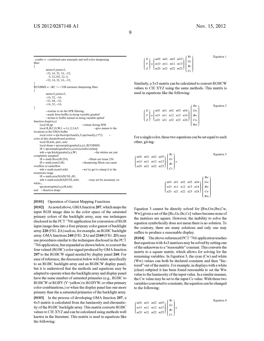 METHOD AND APPARATUS FOR IMPROVED SUBPIXEL RENDERING - diagram, schematic, and image 41