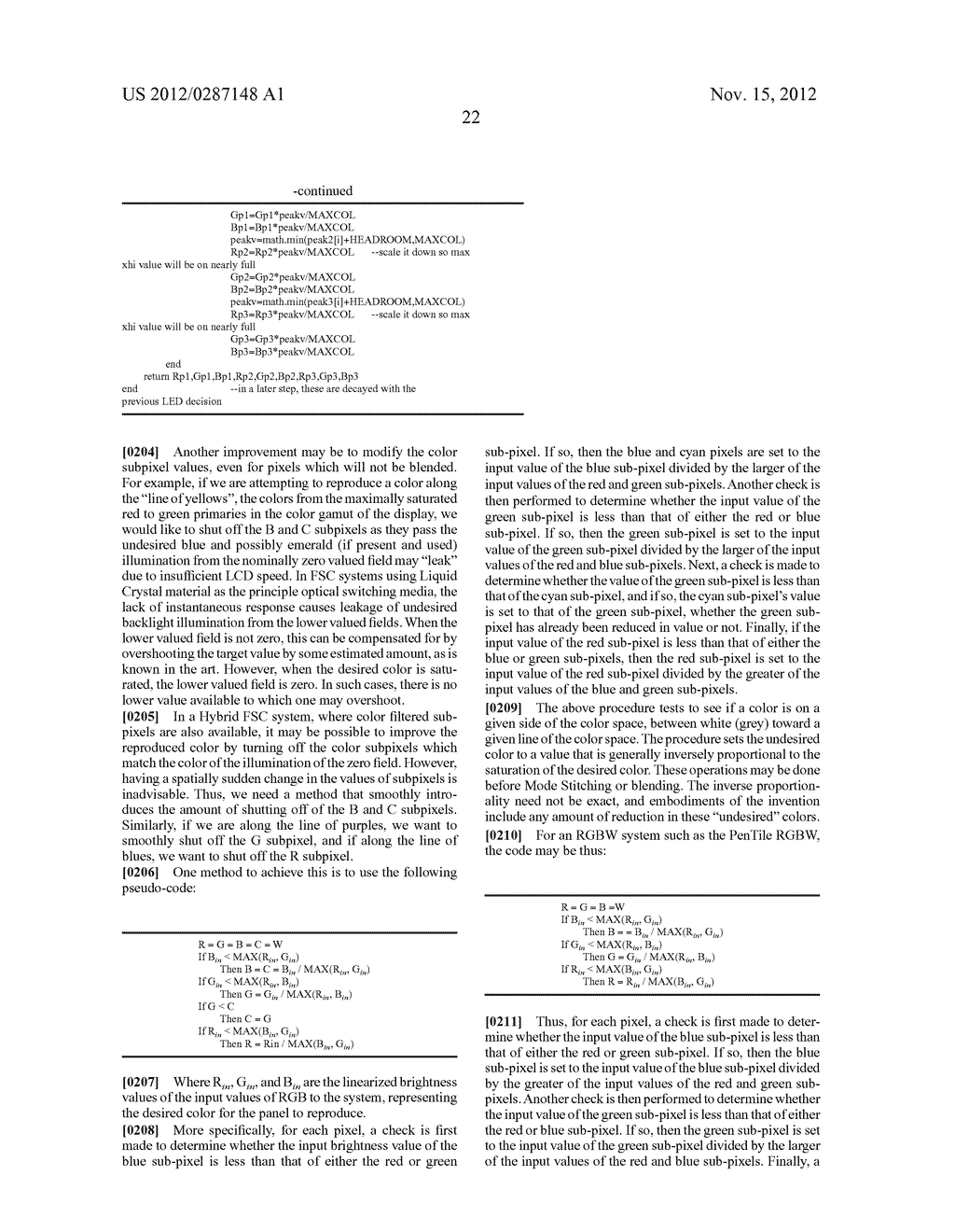 METHOD AND APPARATUS FOR IMPROVED SUBPIXEL RENDERING - diagram, schematic, and image 54