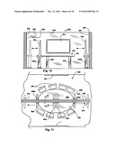 Multi-Use Conferencing Space, Table Arrangement and Display Configuration diagram and image