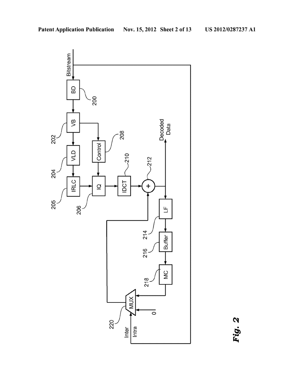 METHOD AND APPARATUS FOR PROCESSING VIDEO SIGNALS, RELATED COMPUTER     PROGRAM PRODUCT, AND ENCODED SIGNAL - diagram, schematic, and image 03