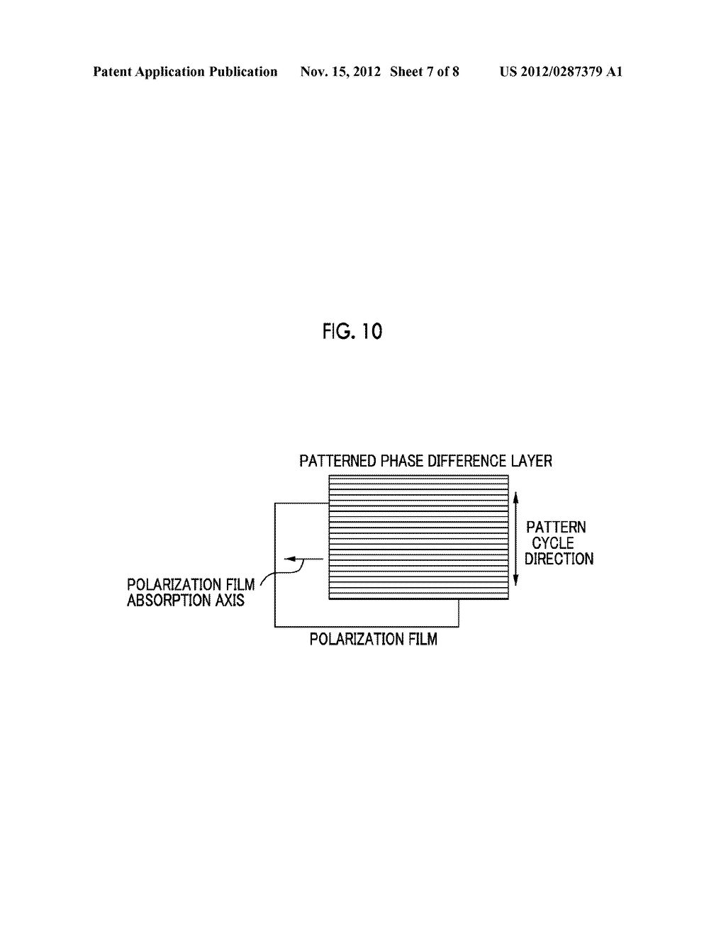 PATTERNED POLARIZATION PLATE, IMAGE DISPLAY APPARATUS AND IMAGE DISPLAY     SYSTEM - diagram, schematic, and image 08