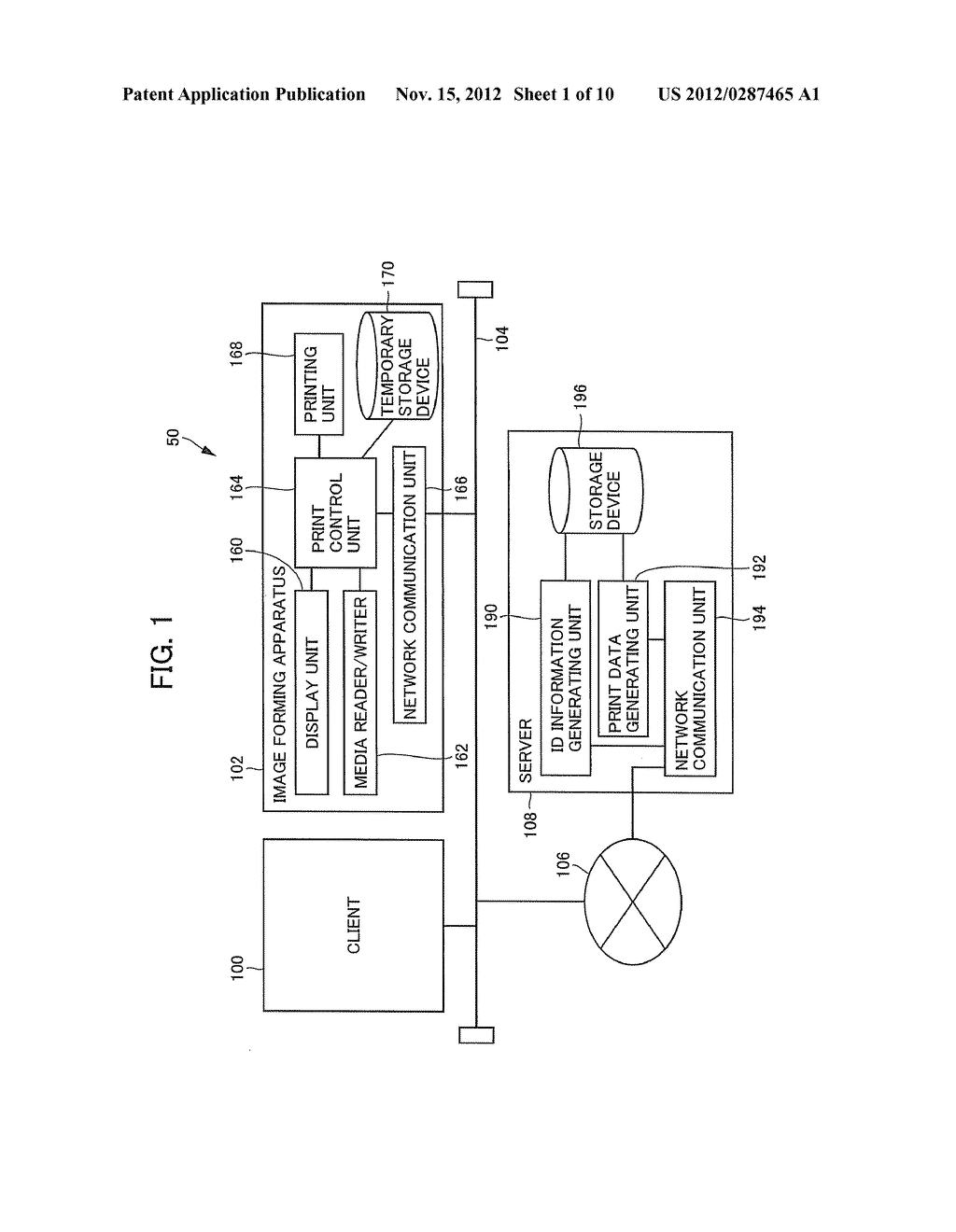 CLIENT APPARATUS, PRINT DATA GENERATION SERVER AND IMAGE FORMING APPARATUS     FOR NETWORK PRINT SYSTEM - diagram, schematic, and image 02