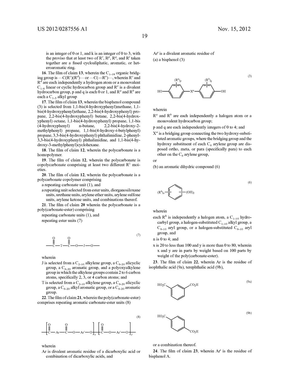 AMORPHOUS POLYCARBONATE FILMS FOR CAPACITORS, METHODS OF MANUFACTURE, AND     ARTICLES MANUFACTURED THEREFROM - diagram, schematic, and image 20