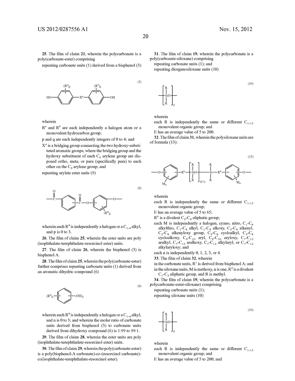 AMORPHOUS POLYCARBONATE FILMS FOR CAPACITORS, METHODS OF MANUFACTURE, AND     ARTICLES MANUFACTURED THEREFROM - diagram, schematic, and image 21