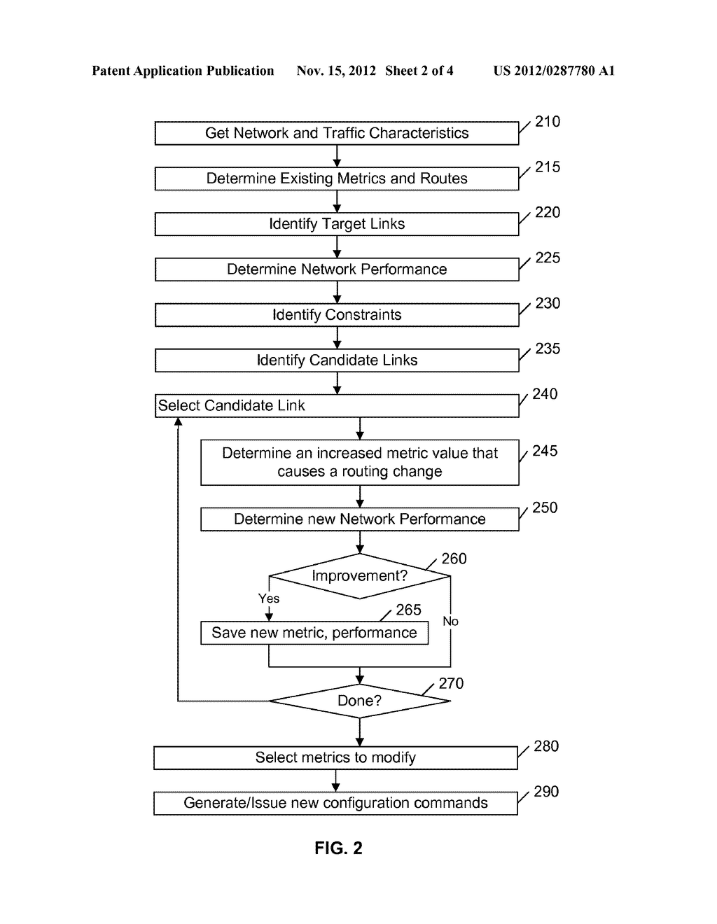 TUNING ROUTING METRICS TO REDUCE MAXIMUM LINK UTILIZATION AND/OR PROVIDE     FAILURE RESILIENCY - diagram, schematic, and image 03