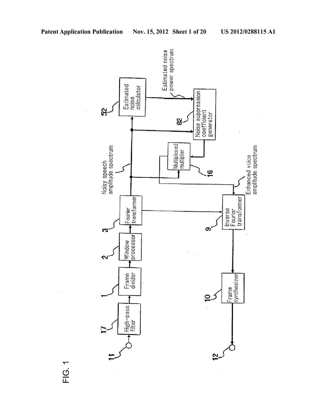 Method, Apparatus, and Computer Program For Suppressing Noise - diagram, schematic, and image 02