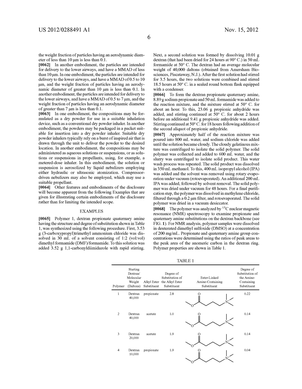 PHARMACEUTICAL COMPOSITIONS OF ACTIVE AGENTS AND CATIONIC DEXTRAN POLYMER     DERIVATIVES - diagram, schematic, and image 11