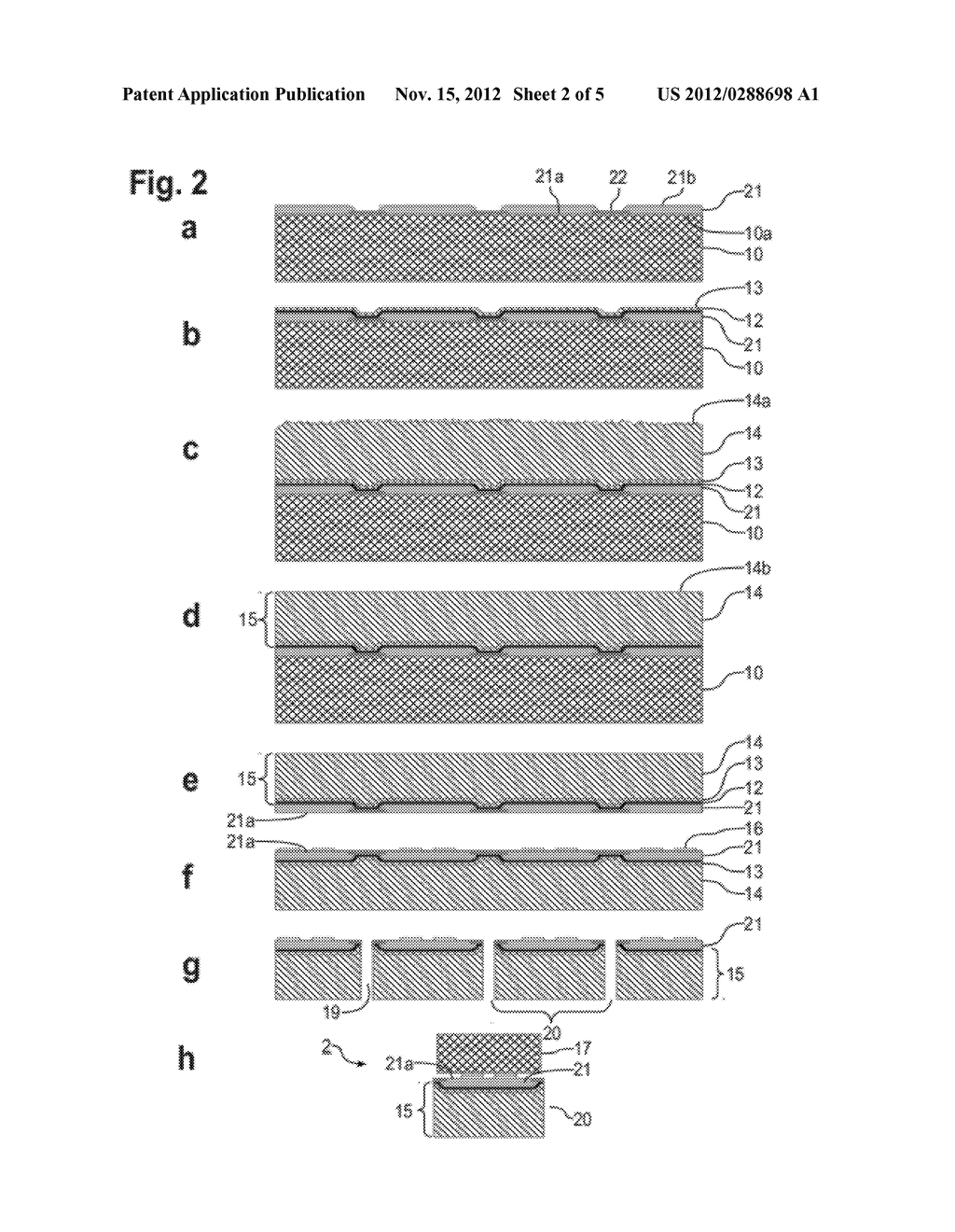 METHOD OF FABRICATION, DEVICE STRUCTURE AND SUBMOUNT COMPRISING DIAMOND ON     METAL SUBSTRATE FOR THERMAL DISSIPATION - diagram, schematic, and image 03