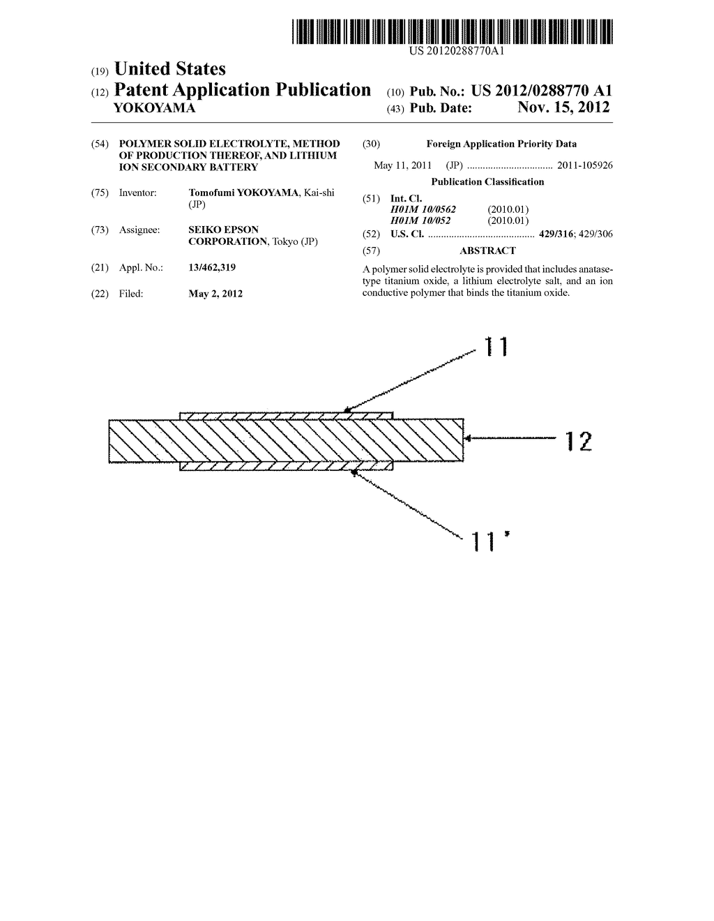 POLYMER SOLID ELECTROLYTE, METHOD OF PRODUCTION THEREOF, AND LITHIUM ION     SECONDARY BATTERY - diagram, schematic, and image 01