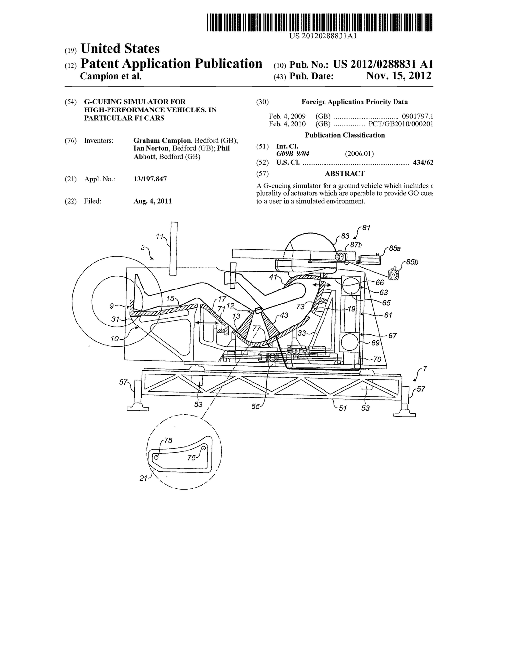 G Cueing Simulator For High Performance Vehicles In Particular F1 Engine Diagram Cars Schematic And Image 01