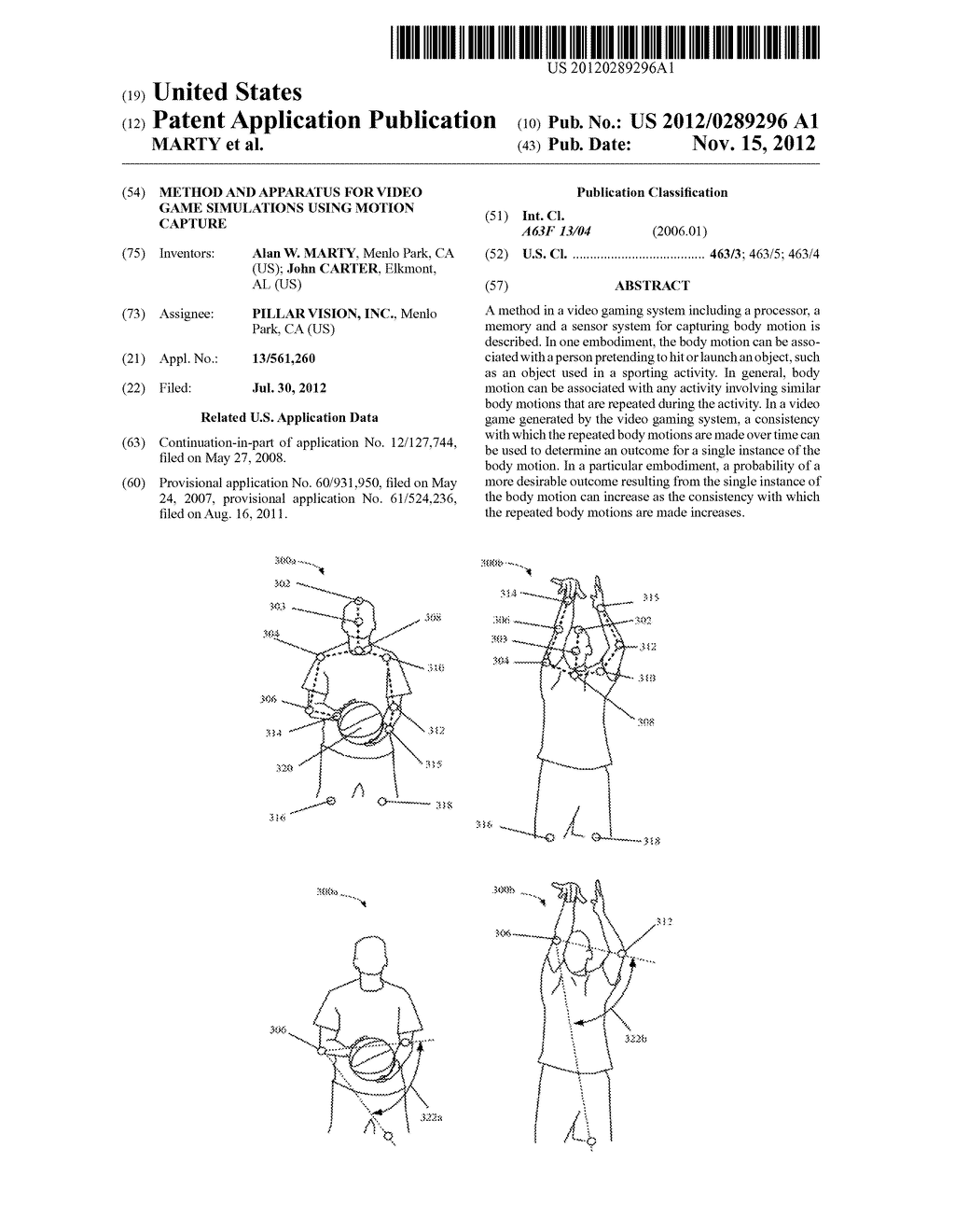 METHOD AND APPARATUS FOR VIDEO GAME SIMULATIONS USING MOTION CAPTURE - diagram, schematic, and image 01