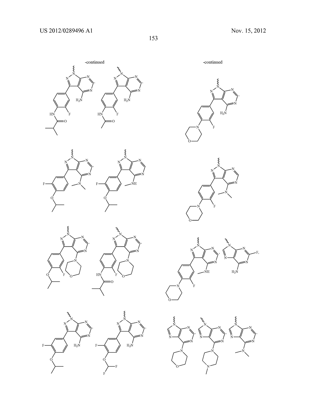 NOVEL COMPOUNDS AS MODULATORS OF PROTEIN KINASES - diagram, schematic, and image 154