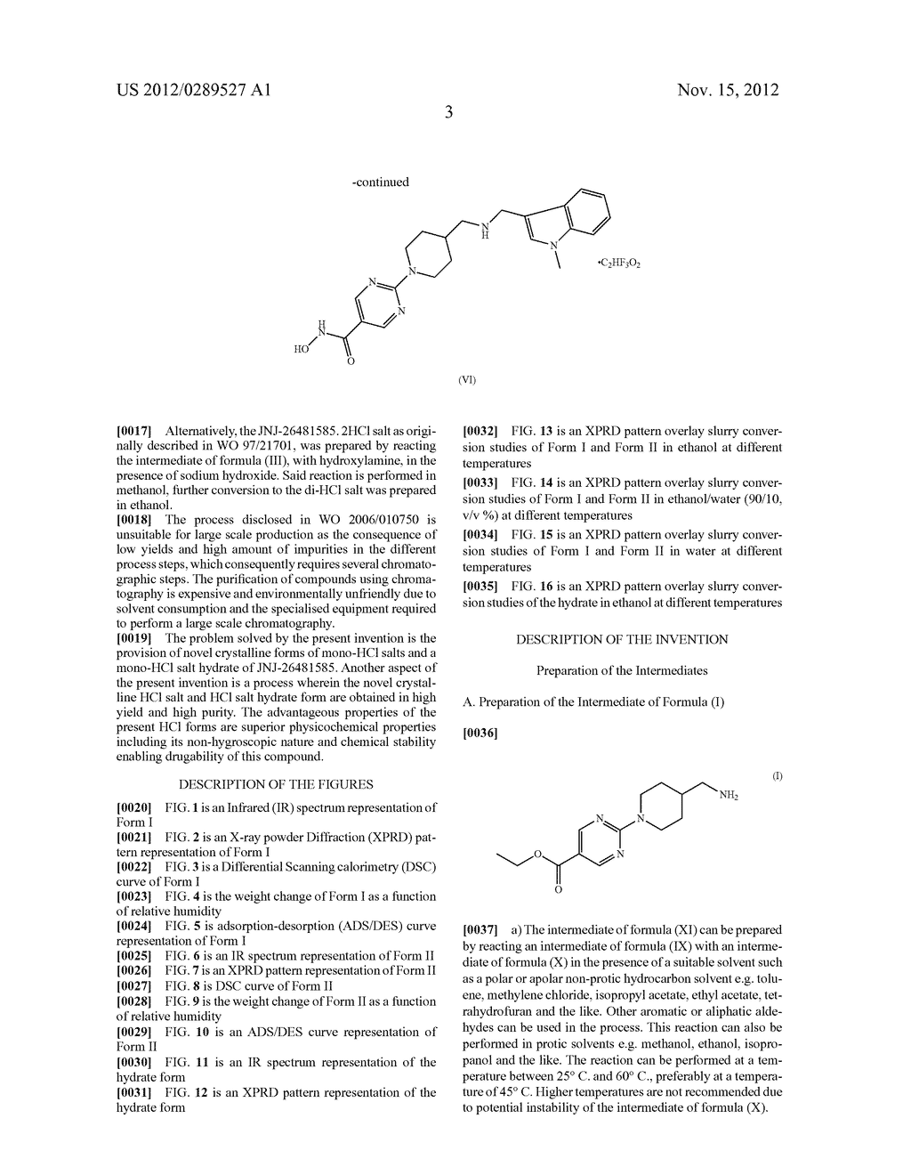 MONO-HYDROCHLORIC SALTS OF AN INHIBITOR OF HISTONE DEACETYLASE - diagram, schematic, and image 20