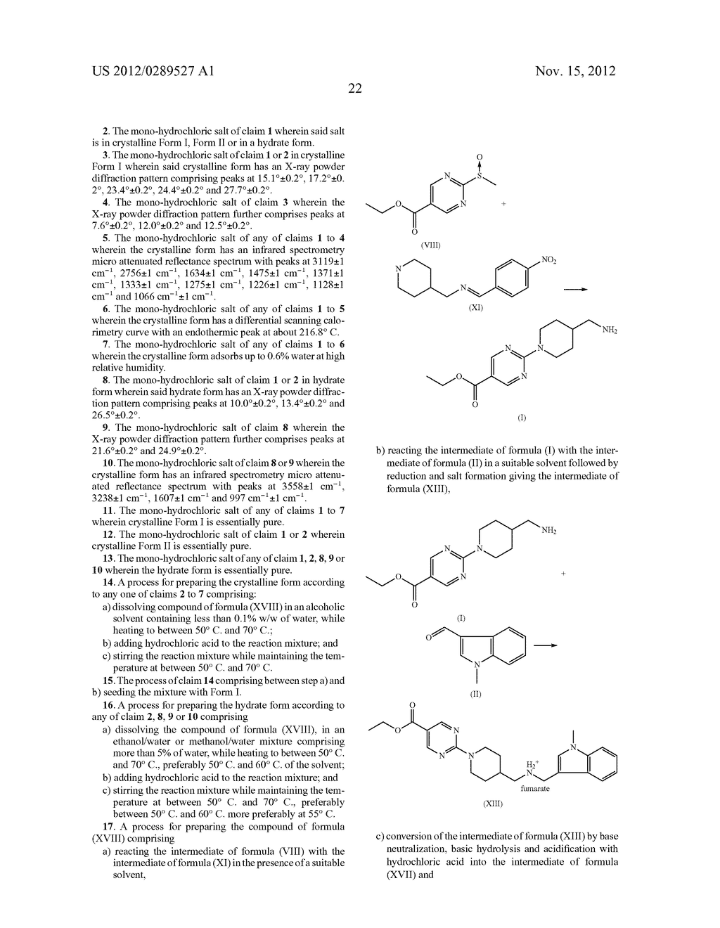 MONO-HYDROCHLORIC SALTS OF AN INHIBITOR OF HISTONE DEACETYLASE - diagram, schematic, and image 39