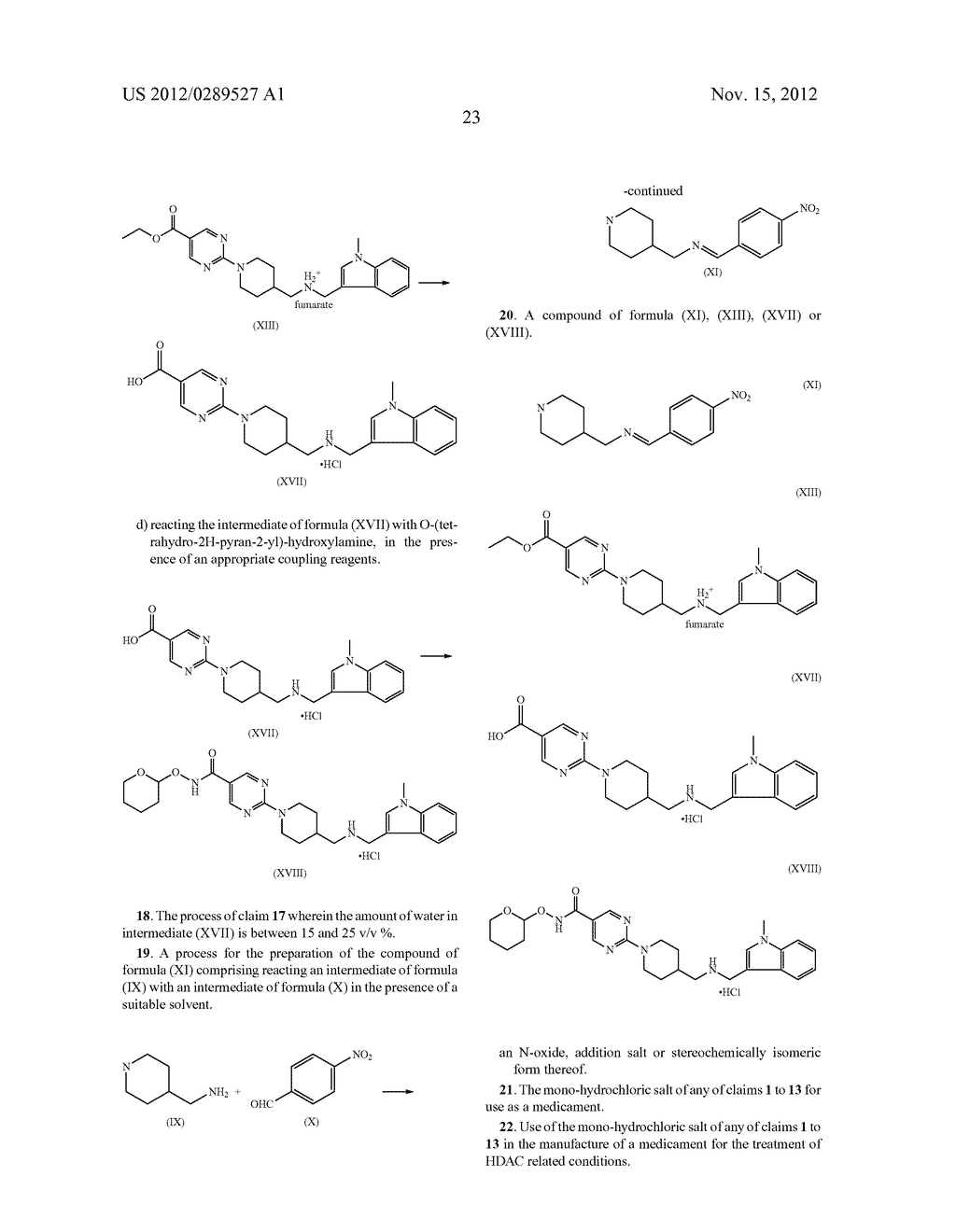 MONO-HYDROCHLORIC SALTS OF AN INHIBITOR OF HISTONE DEACETYLASE - diagram, schematic, and image 40
