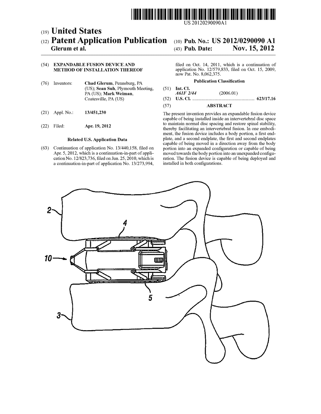 Expandable Fusion Device and Method of Installation Thereof - diagram, schematic, and image 01