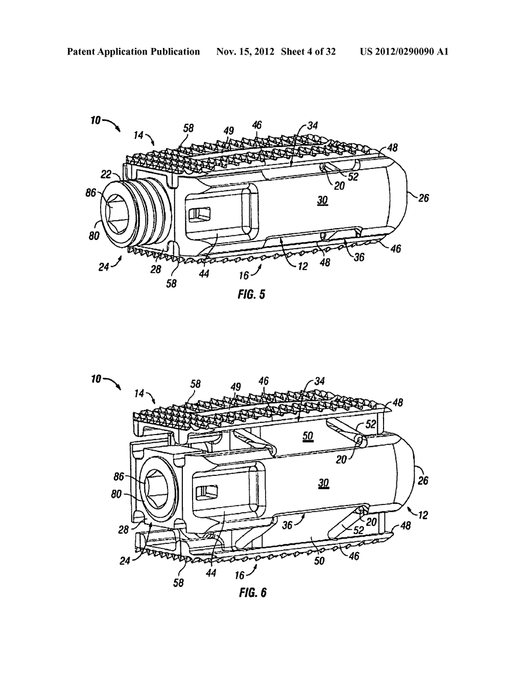 Expandable Fusion Device and Method of Installation Thereof - diagram, schematic, and image 05
