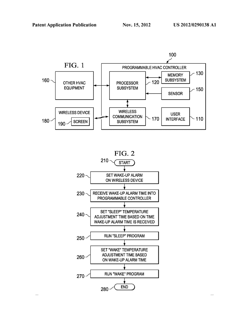 SYSTEM AND METHOD FOR AUTOMATICALLY PROGRAMMING HVAC SYSTEM TEMPERATURE     ADJUSTMENT TIMES - diagram, schematic, and image 02