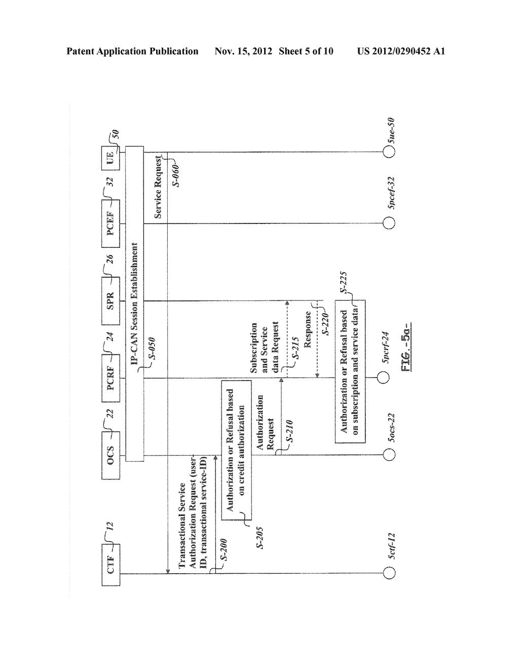 METHOD AND APPARATUS FOR AUTHORIZING A TRANSACTIONAL SERVICE BY A POLICY     AND CHARGING CONTROL ARCHITECTURE - diagram, schematic, and image 06