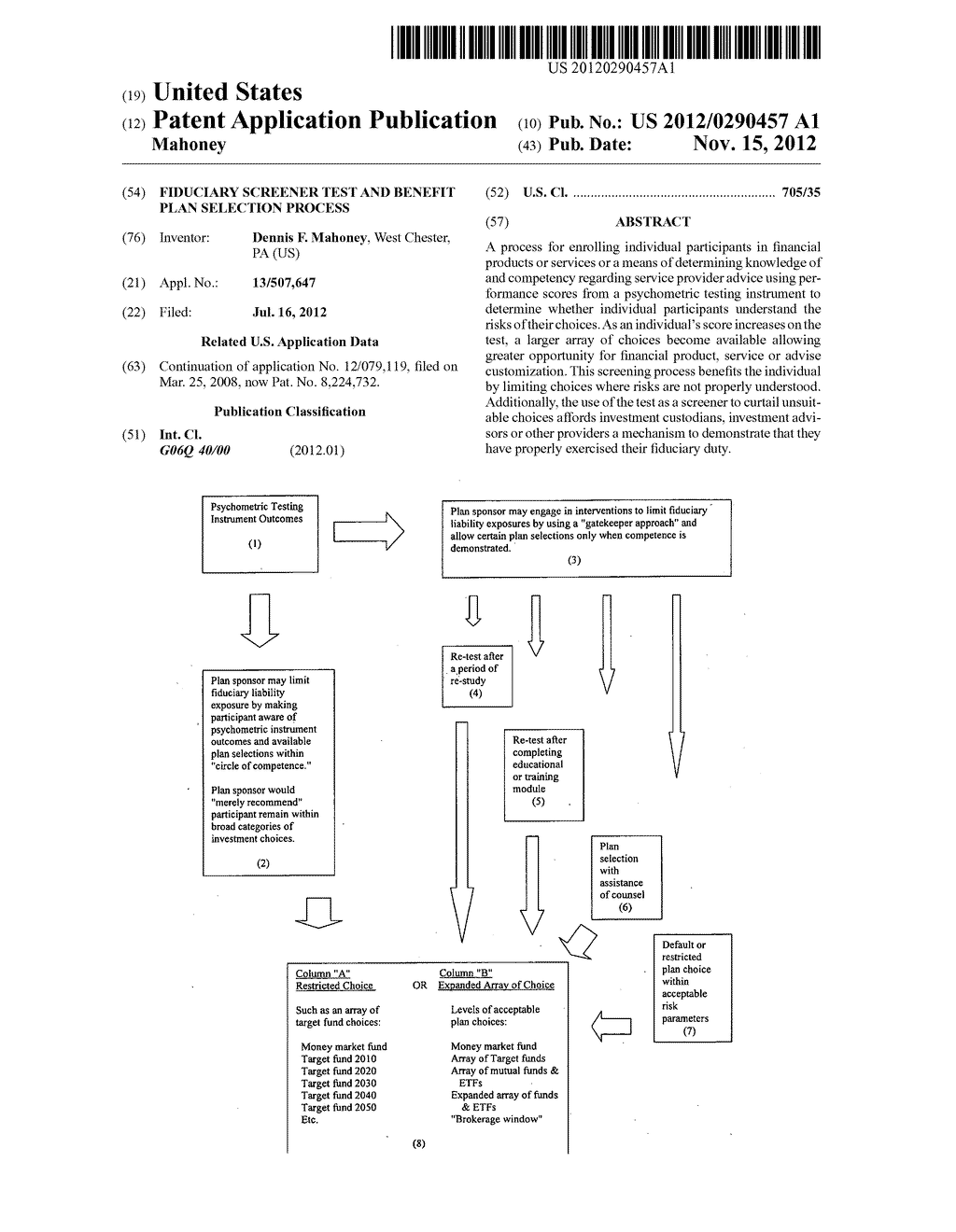 Fiduciary screener test and benefit plan selection process - diagram, schematic, and image 01