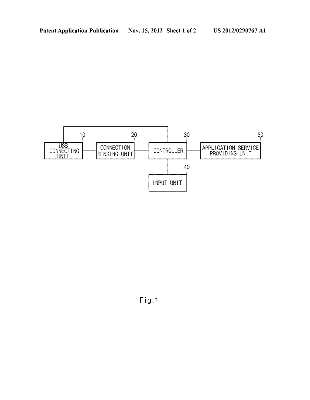 APPARATUS AND METHOD FOR PROVIDING APPLICATION SERVICE USING EXTERNAL     MEMORY - diagram, schematic, and image 02
