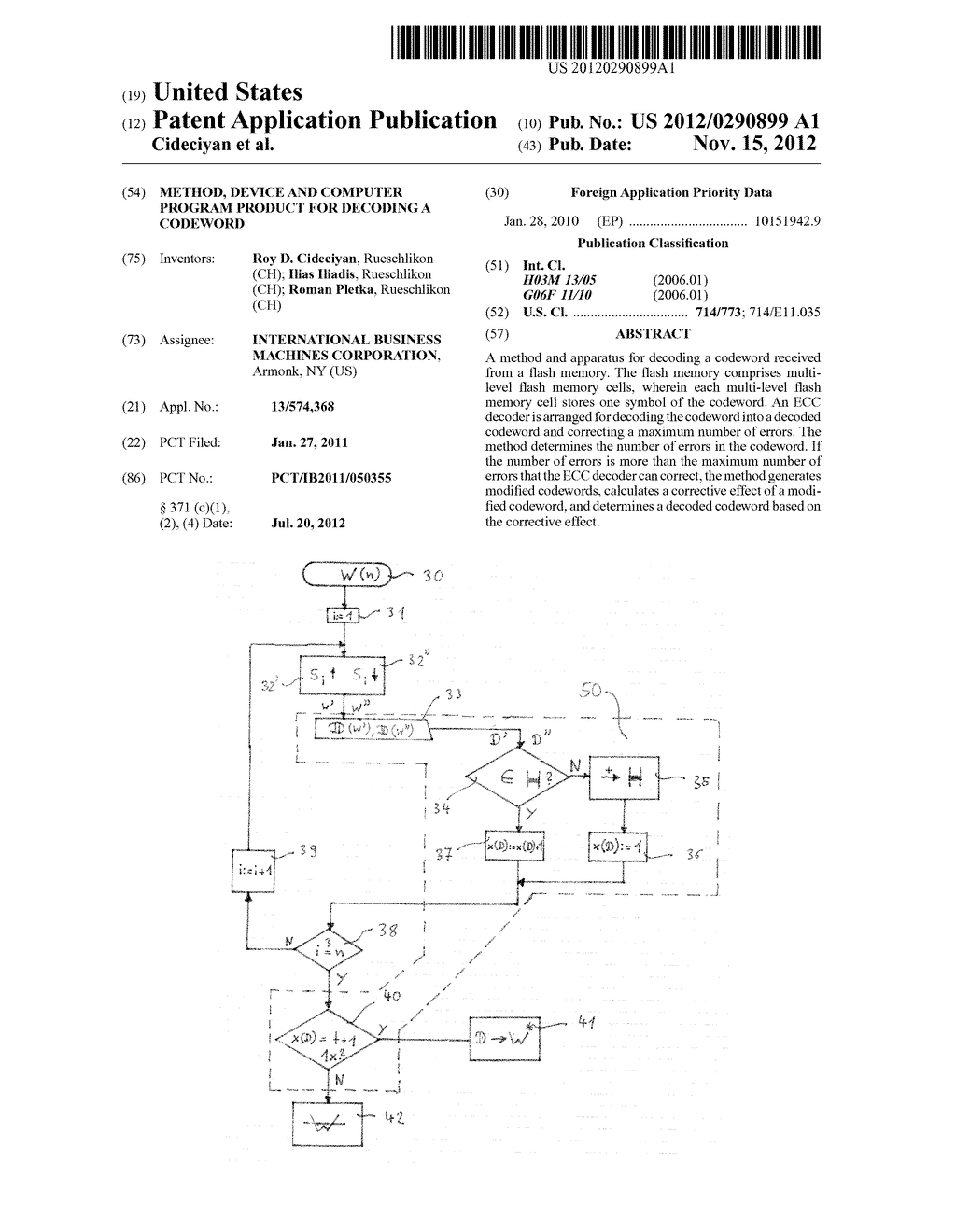 METHOD, DEVICE AND COMPUTER PROGRAM PRODUCT FOR DECODING A CODEWORD - diagram, schematic, and image 01