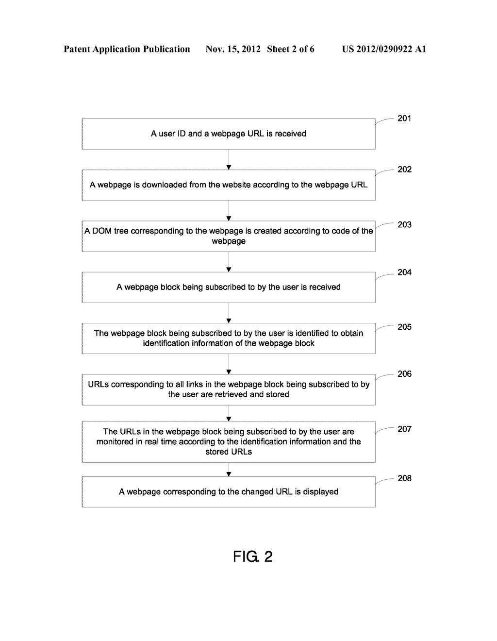 Method And Apparatus For Subscribing To Information From A Webpage - diagram, schematic, and image 03