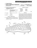 Article of Footwear Having an Upper with a Structured Intermediate Layer diagram and image