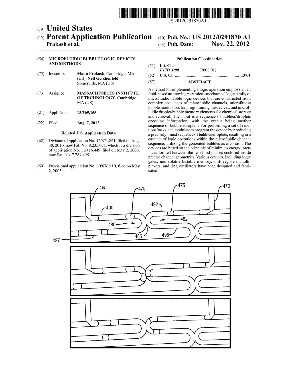 Microfluidic Bubble Logic Devices and Methods - diagram, schematic, and image 01