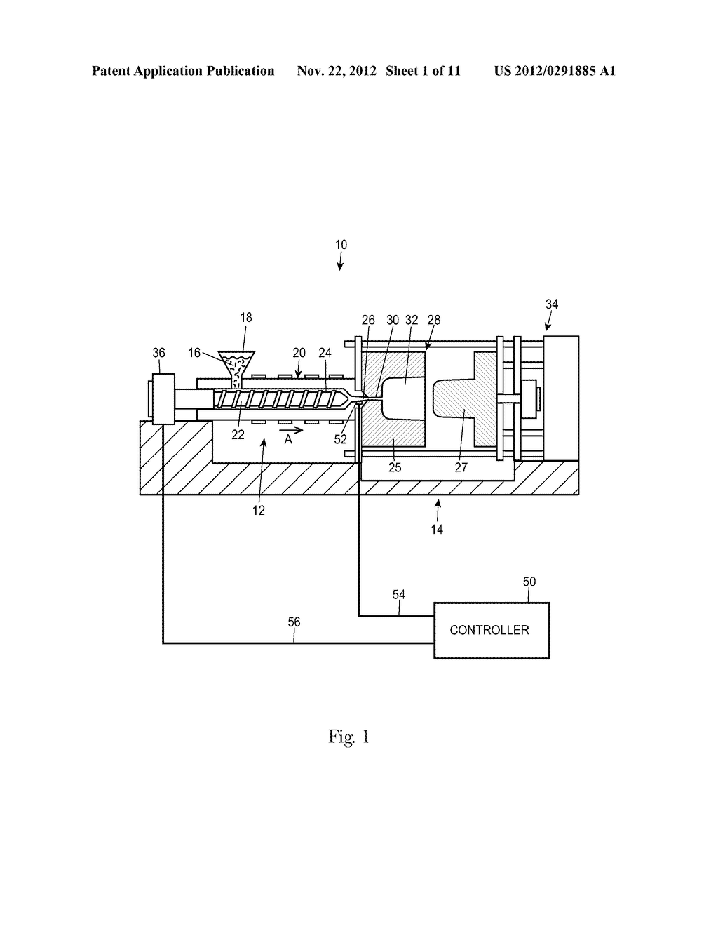 Alternative Pressure Control for a Low Constant Pressure Injection Molding     Apparatus - diagram, schematic, and image 02