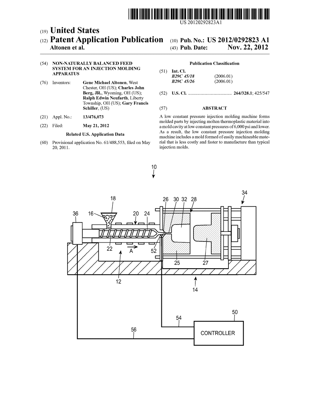Non-Naturally Balanced Feed System for an Injection Molding Apparatus - diagram, schematic, and image 01