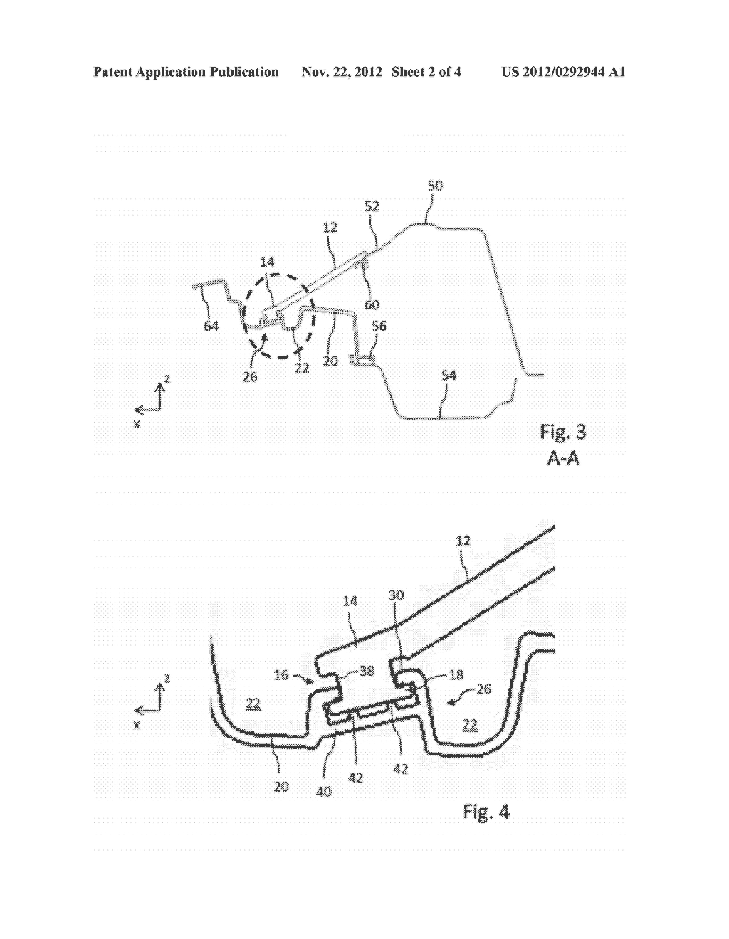 FASTENING DEVICE FOR A PANEL ELEMENT OF A MOTOR VEHICLE BODY - diagram, schematic, and image 03