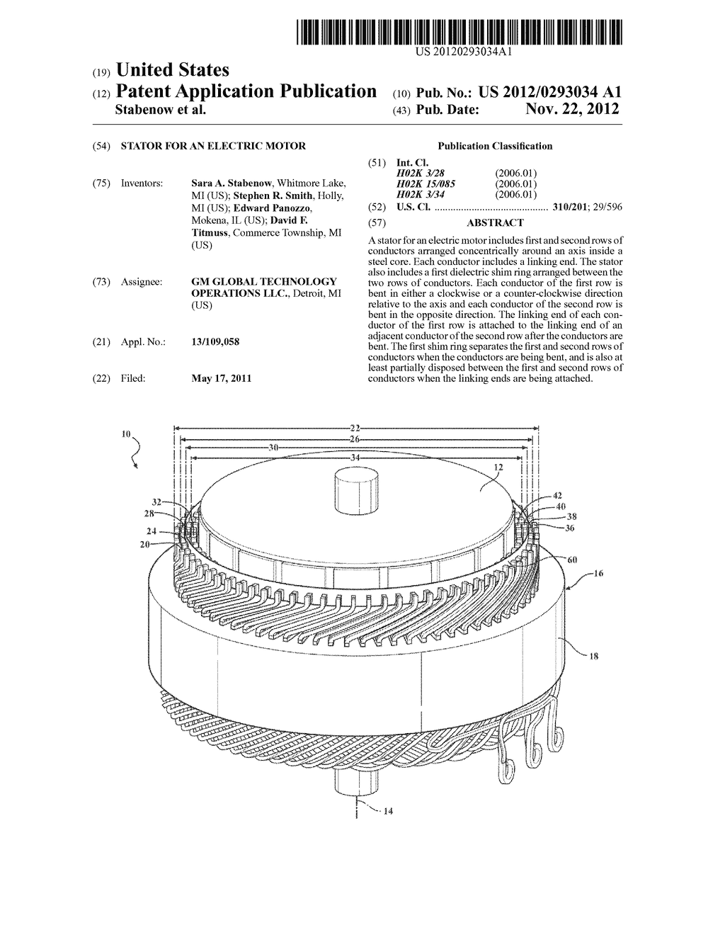 STATOR FOR AN ELECTRIC MOTOR - diagram, schematic, and image 01