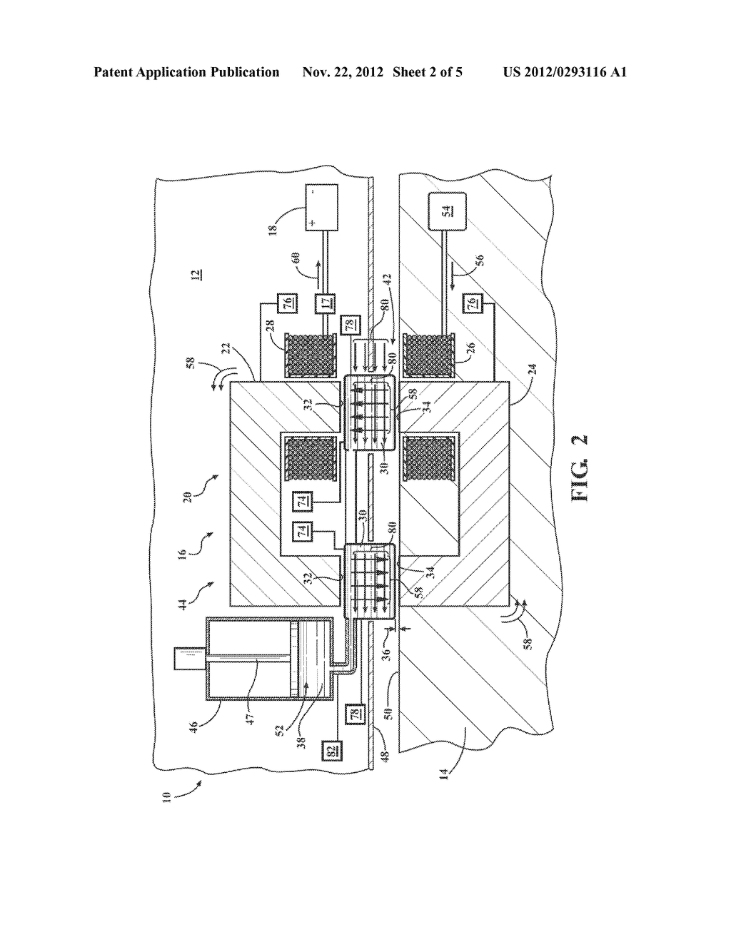 SYSTEM AND METHOD OF FILLING AN AIR GAP BETWEEN A PAIR OF CORE SECTIONS OF     A TRANSFORMER - diagram, schematic, and image 03