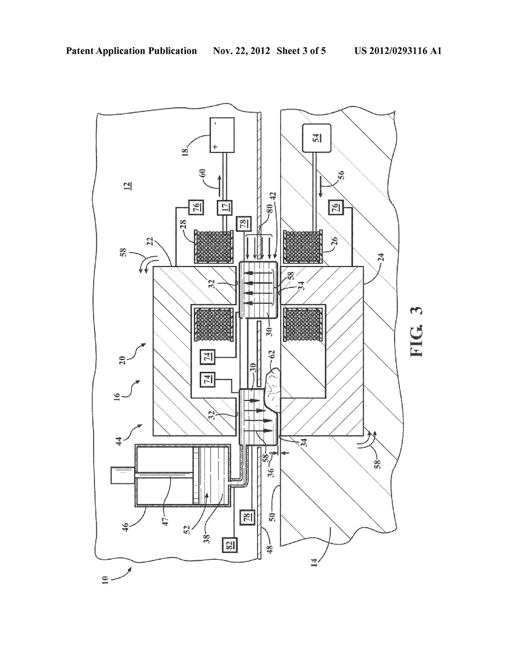 SYSTEM AND METHOD OF FILLING AN AIR GAP BETWEEN A PAIR OF CORE SECTIONS OF     A TRANSFORMER - diagram, schematic, and image 04