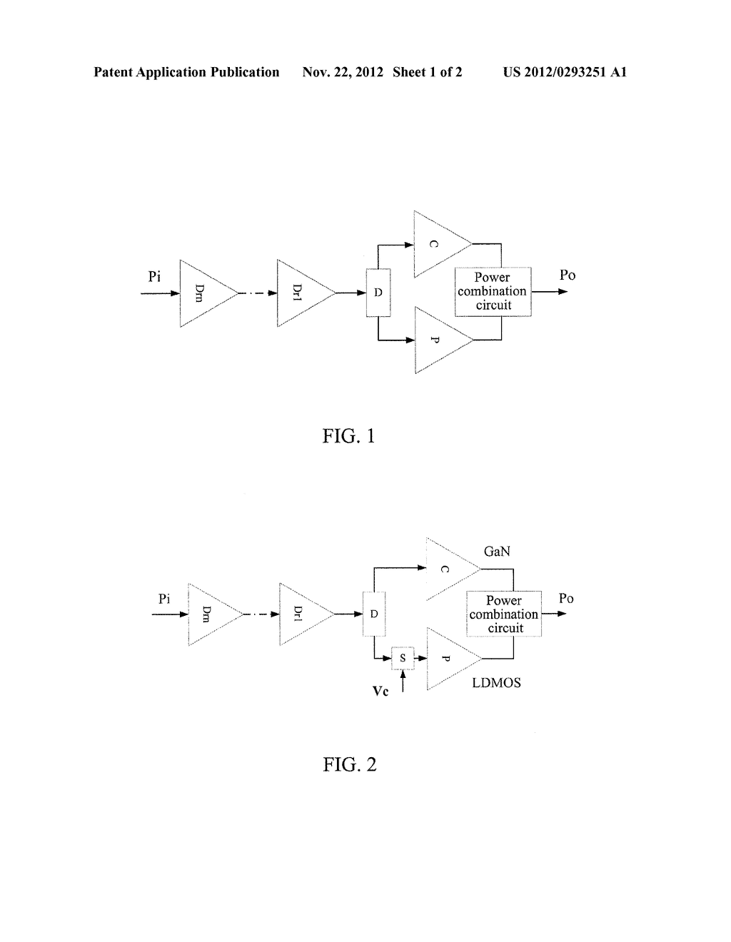 DOHERTY POWER AMPLIFIER AND IMPLEMENTATION METHOD THEREOF - diagram, schematic, and image 02