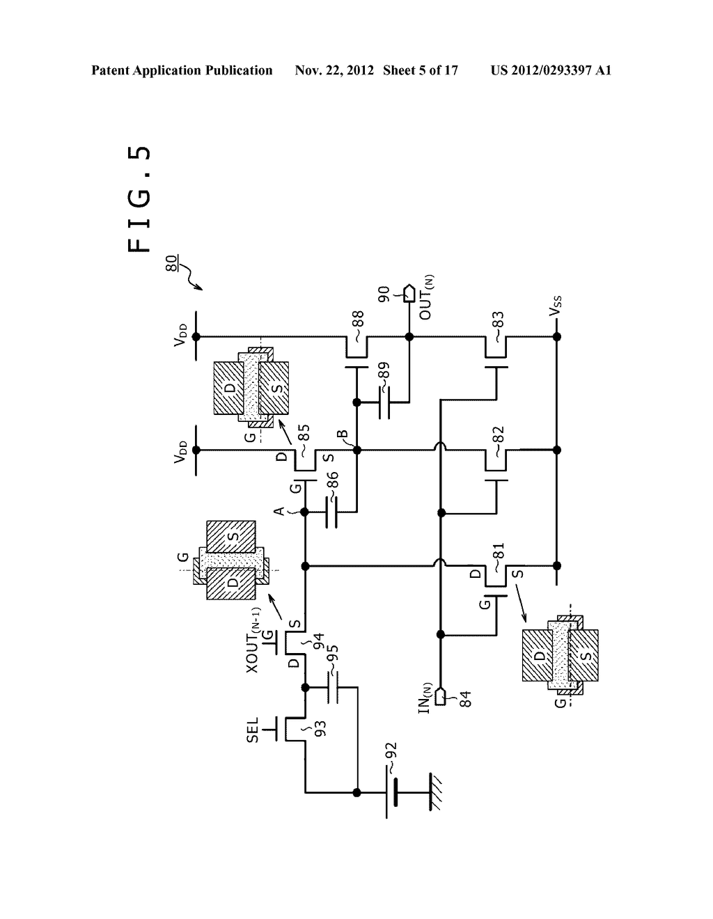 BOOTSTRAP CIRCUIT, INVERTER CIRCUIT, SCANNING CIRCUIT, DISPLAY DEVICE, AND     ELECTRONIC APPARATUS - diagram, schematic, and image 06
