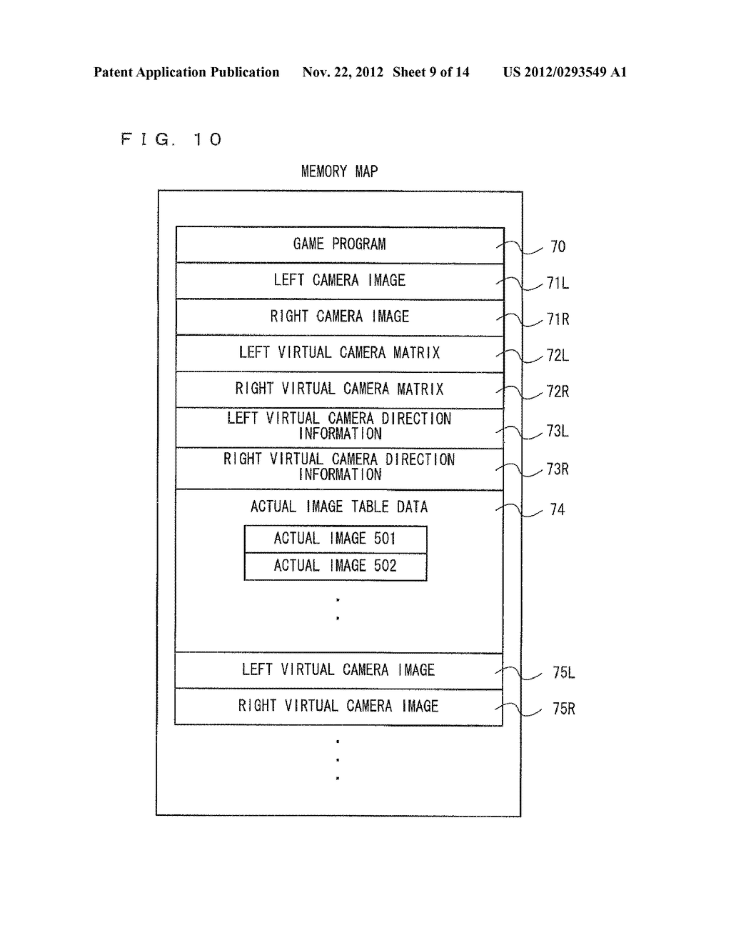 COMPUTER-READABLE STORAGE MEDIUM HAVING INFORMATION PROCESSING PROGRAM     STORED THEREIN, INFORMATION PROCESSING APPARATUS, INFORMATION PROCESSING     SYSTEM, AND INFORMATION PROCESSING METHOD - diagram, schematic, and image 10