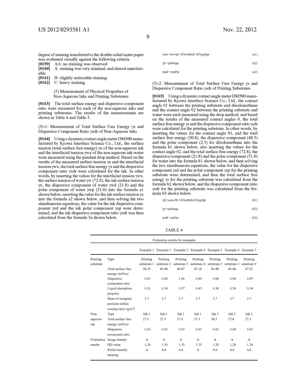 METHOD FOR PRINTING NON-AQUEOUS INK AND PRINTING SUBSTRATE FOR NON-AQUEOUS     INK - diagram, schematic, and image 10