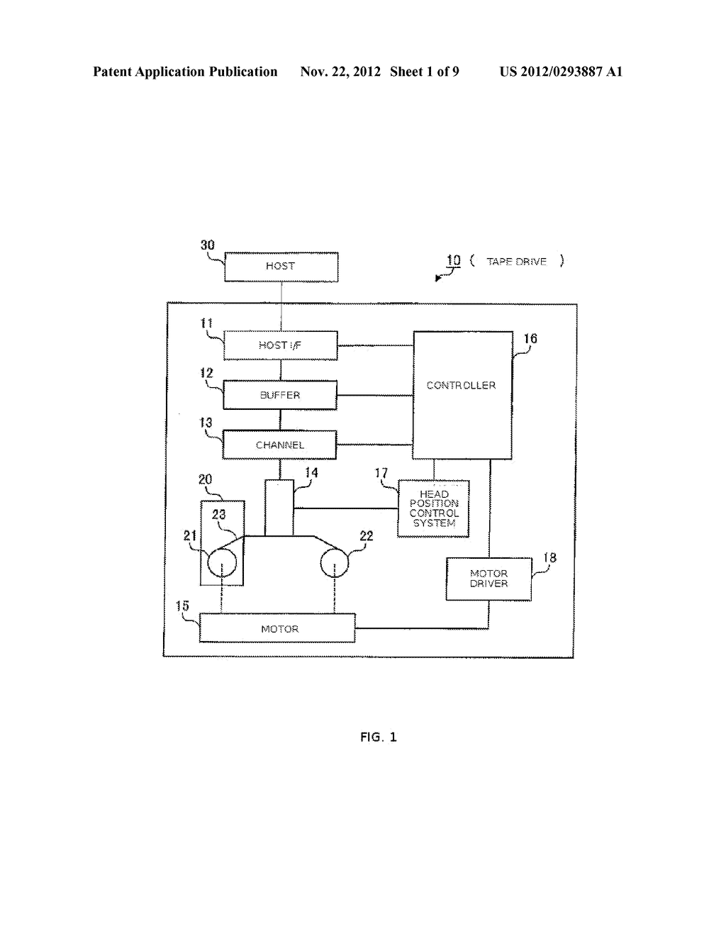 APPARATUS AND METHOD FOR CONTROLLING DATA WRITING TO A TAPE    MEDIUM - diagram, schematic, and image 02