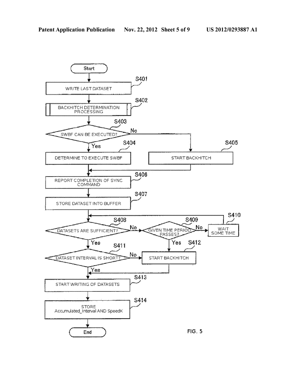 APPARATUS AND METHOD FOR CONTROLLING DATA WRITING TO A TAPE    MEDIUM - diagram, schematic, and image 06